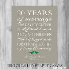 20 year anniversary ideas 20 year wedding anniversary gifts b73 in images gallery m76