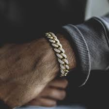 10mm diamond diamond cuban link bracelet in yellow gold 10mm gold city shop