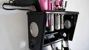 Hair Dryer And Flat Iron Holder Wall Mount inspirations curling iron holder wall mount hair appliance