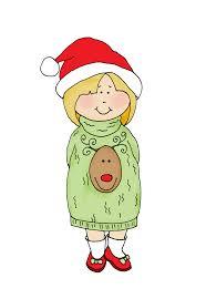 free dearie dolls digi stamps ugly sweater free dearie