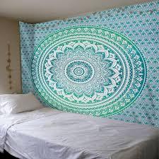 tapestry home decor green mandala tapestry wall hanging lotus bohemia art for home decor
