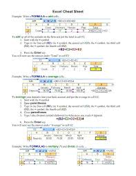 tutorial excel basic microsoft excel formulas tutorial basic excel formulas cheat sheet