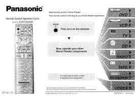 new panasonic home theater remote codes best home design best and