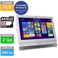 ordinateur de bureau msi msi pc tout en un adora20 5m 012eu 19 5 9s6 a prix pas cher