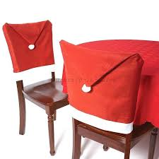 santa hat chair covers 6 christmas chair covers dinner table santa hat home decorations