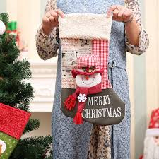 Christmas Decorations Large Santa Claus by New Creative Santa Claus Snowman Stocks For Christmas Decoration
