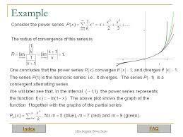 power series definition of power series convergence of power