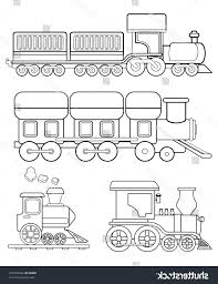 best free stock vector train coloring page pictures