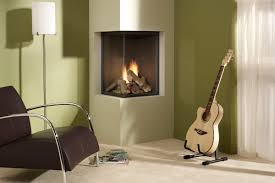 touch your interior with different style 3 sided fireplace idea