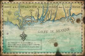 louisiana florida map golfe de mexique c1699 map artwork 11x17 gulf of mexico