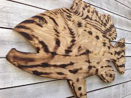 valentines day gift for him large goliath grouper wooden sign