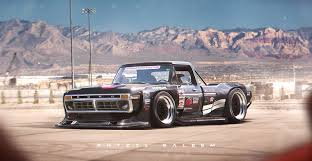 hoonigan drift cars widebody 1970s ford f series rendering is out of this world you