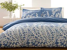 bedroom navy comforter with coral pattern for bedroom