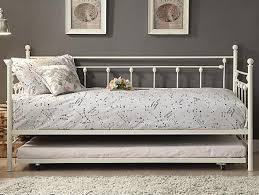 white metal daybed with trundle the furniture mart