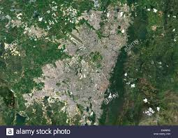 Bogota Colombia Map South America by Colour Satellite Image Of Bogota Colombia Image Taken On January