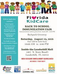 florida kidcare back to immunization fair salud al dia