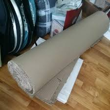 corrugated cardboard floor protection for renovation furniture