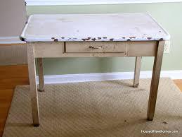 vintage enamel kitchen table vintage enamel top table house of hawthornes