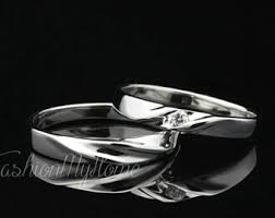 Wedding Rings Sets His And Hers by Wedding Ring Set His And Her Etsy