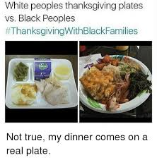 white peoples thanksgiving plates vs black peoples