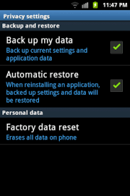 android restore lost device wifi passwords and backup data stored permanently on