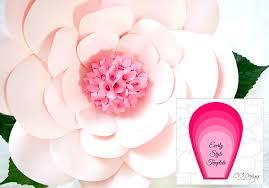 japanese wedding backdrop large pink paper flowers flower templates diy flower