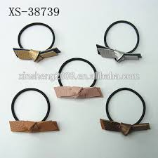 leather hair accessories korean style hair accessories leather bowknot elastic hair tie
