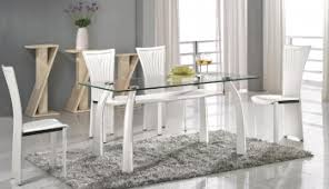 Glass Topped Dining Table And Chairs Table And Chairs Sets Italian Dining Furniture Luxury Kitchen