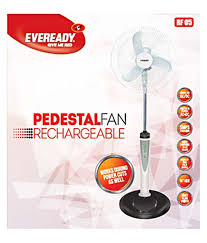 Buy Pedestal Fan Eveready 16 Inches Rf05 Rechargeable Pedestal Fan White Price In