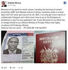 kenya u0027s u0027moral policeman u0027 boasts of getting us visa despite anti