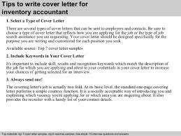 Inventory Analyst Cover Letter Inventory Accountant Cover Letter