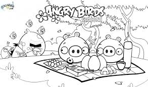 coloring pages angry birds free printable angry bird