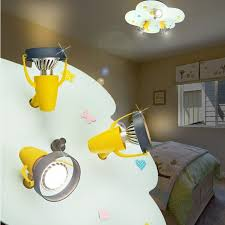 spot chambre enfant nuage projecteur de plafond enfant jaune le luminaire chambre d