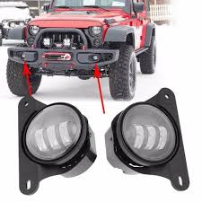 light gray jeep 30w led fog lights for jeep wrangler jk 10th anniversary front