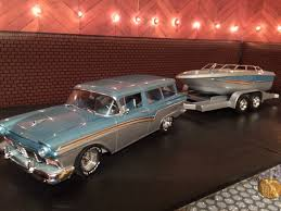 1957 ford wagon and boat a revell kit includes custom buckets