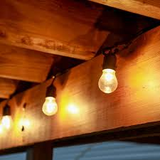 Lighting For Patios Vintage Style String Lights With Glass Edison Light Bulbs Are