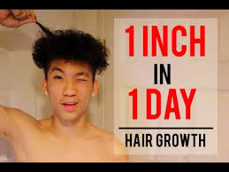 1 inch of hair how to grow your hair extremely fast for guys 1 inch in 1 day