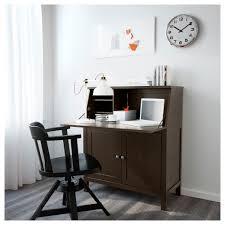 Secretary Under The Desk by Hemnes Secretary Black Brown Ikea