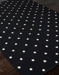 Black White Rugs Modern Polka Dot Area Rugs Rectangle Polkadot Pattern Contemporary