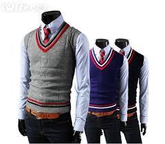 sweater vests mens style knitting wool v neck sweater vests for sale