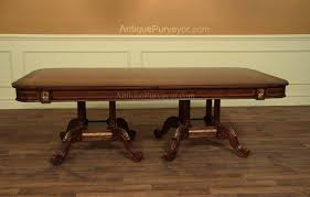 79 to 138 duncan phyfe mahogany dining room table with 3 mahogany