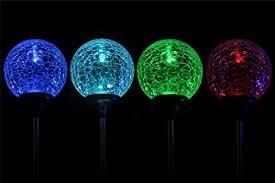 Ball Solar Lights - solar globe lights oxyled crystal glass led light solar stake