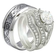 his amp hers sterling silver wedding bands