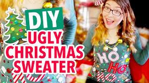 diy ugly christmas sweater hgtv handmade youtube