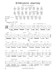 embryonic journey sheet music by jefferson airplane guitar lead