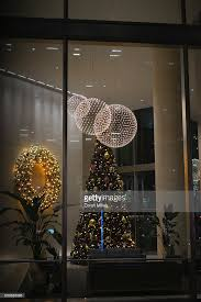 Christmas Window Decorations Canada by Christmas Lighting Pictures Getty Images