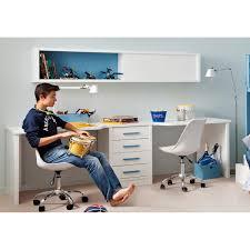 le de bureau pour enfant bureau pour 2 enfants avec caisson et étagère asoral