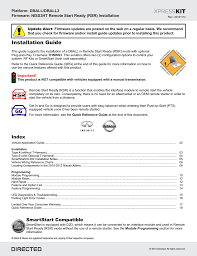 nissan murano quick reference guide directed electronics ready remote install guide