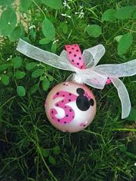 minnie mouse favor ornaments ten personalized handpainted