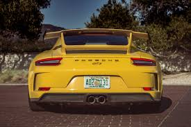yellow porsche 911 2018 porsche 911 gt3 release date price and specs roadshow